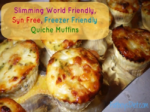 Slimming World Friendly Syn Free Freezer Friendly Quiche Muffins