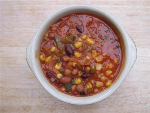 veg soup with macaroni