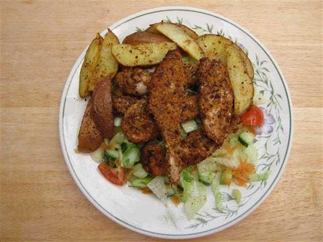 Cajun Chicken & Wedges