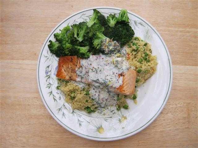 Salmon, Couscous & Broccoli