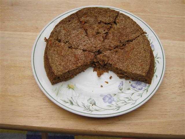 Carrot & Ginger Scan Bran cake