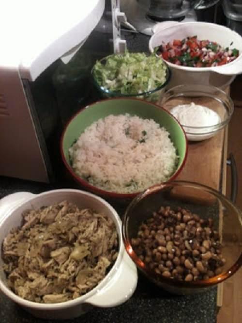 Burrito bowl …syn free ..Slimming world friendly
