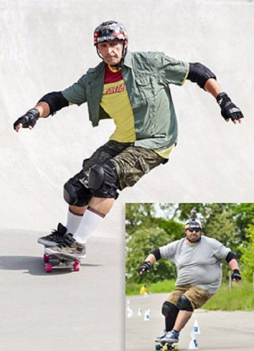 This man transformed himself into a slim line skateboarder after reducing over 13 stones in one year
