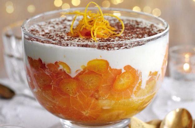 Slimming World's whisky orange trifle