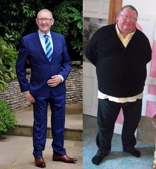 This man is now half the man he was! Amazing shed of 17 stones in 12 months! WOW!