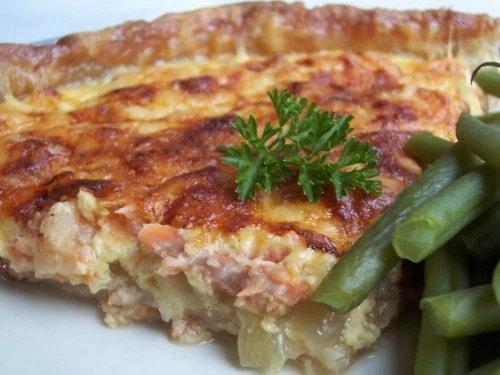 Smoked Salmon, Fennel & Onion Quiche
