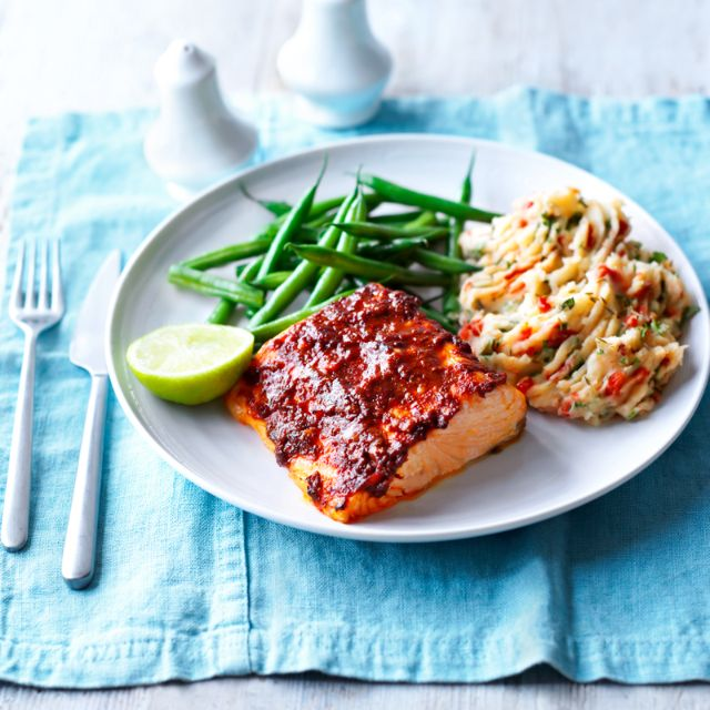Slimming world recipe: Baked spiced Salmon dish