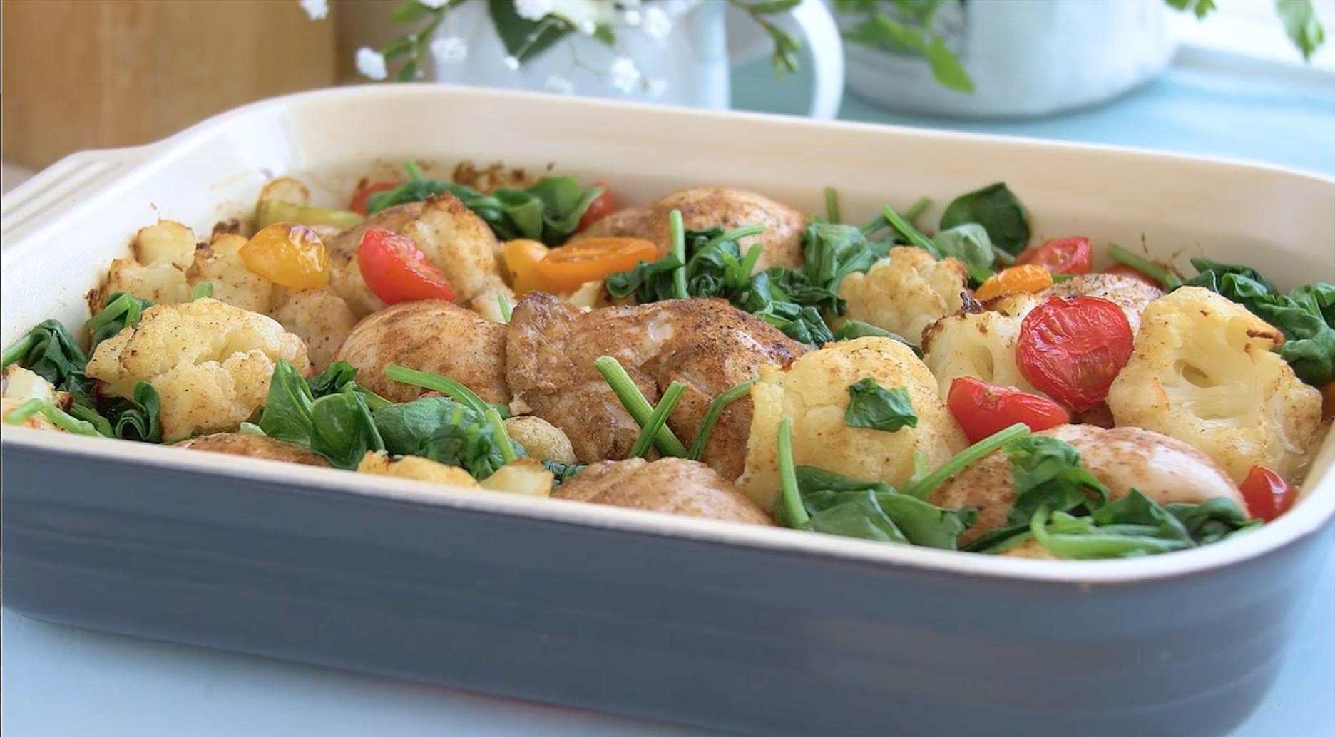 SW recipe: Curried chicken and Cauliflower bake