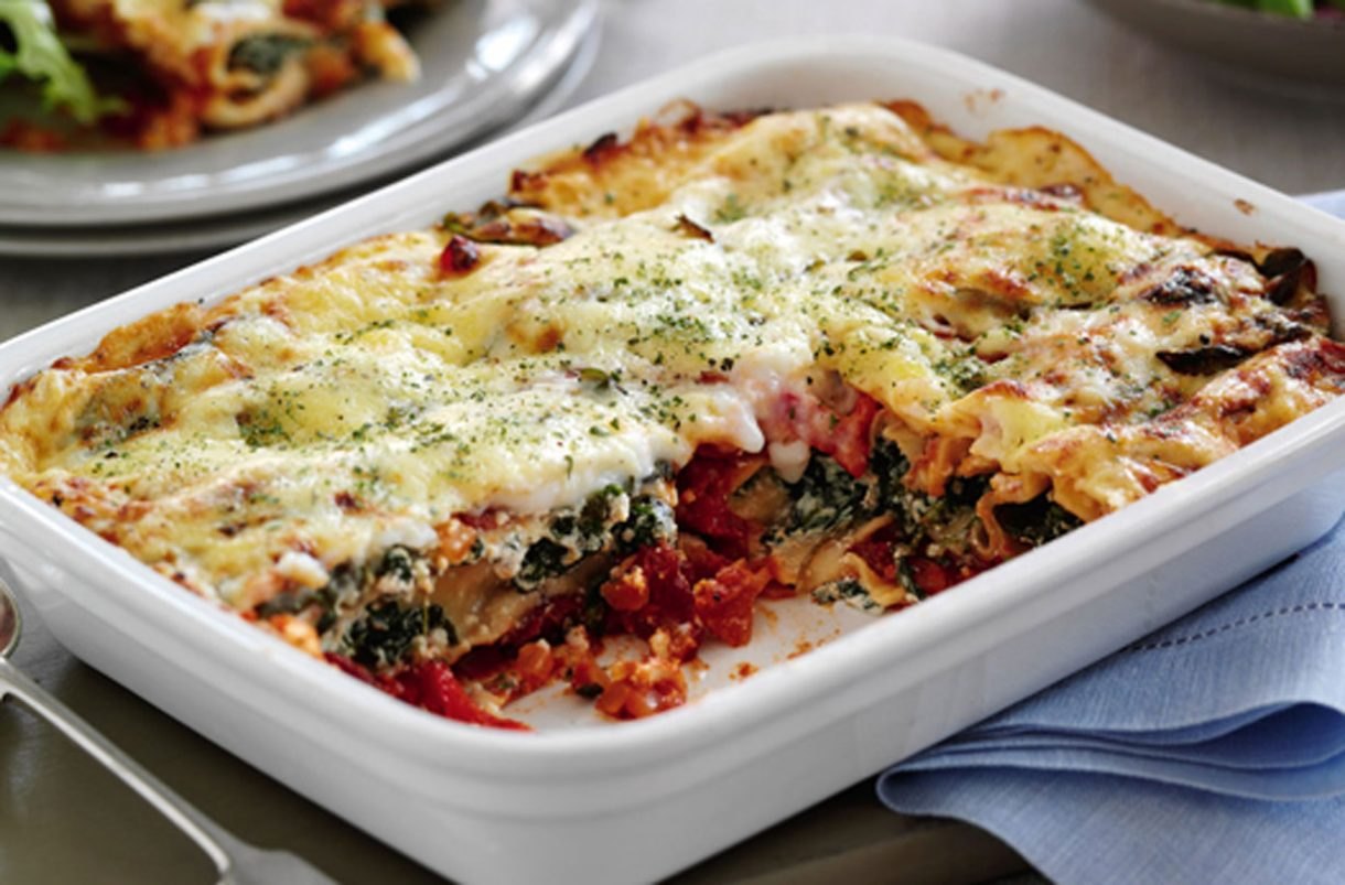 Slimming World recipe: Spinach, tomato and red pepper Cannelloni