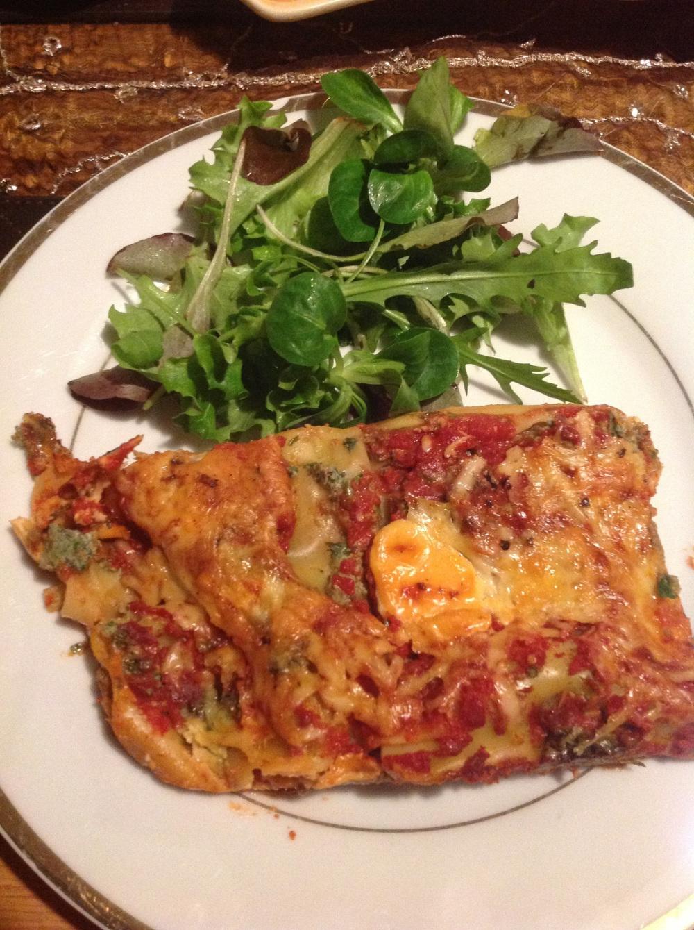 SW recipe: SPINACH RICOTTA AND MUSHROOM LASAGNE