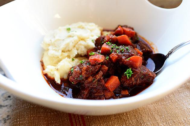 SW recipe: Beef Stew with Mustard Mash