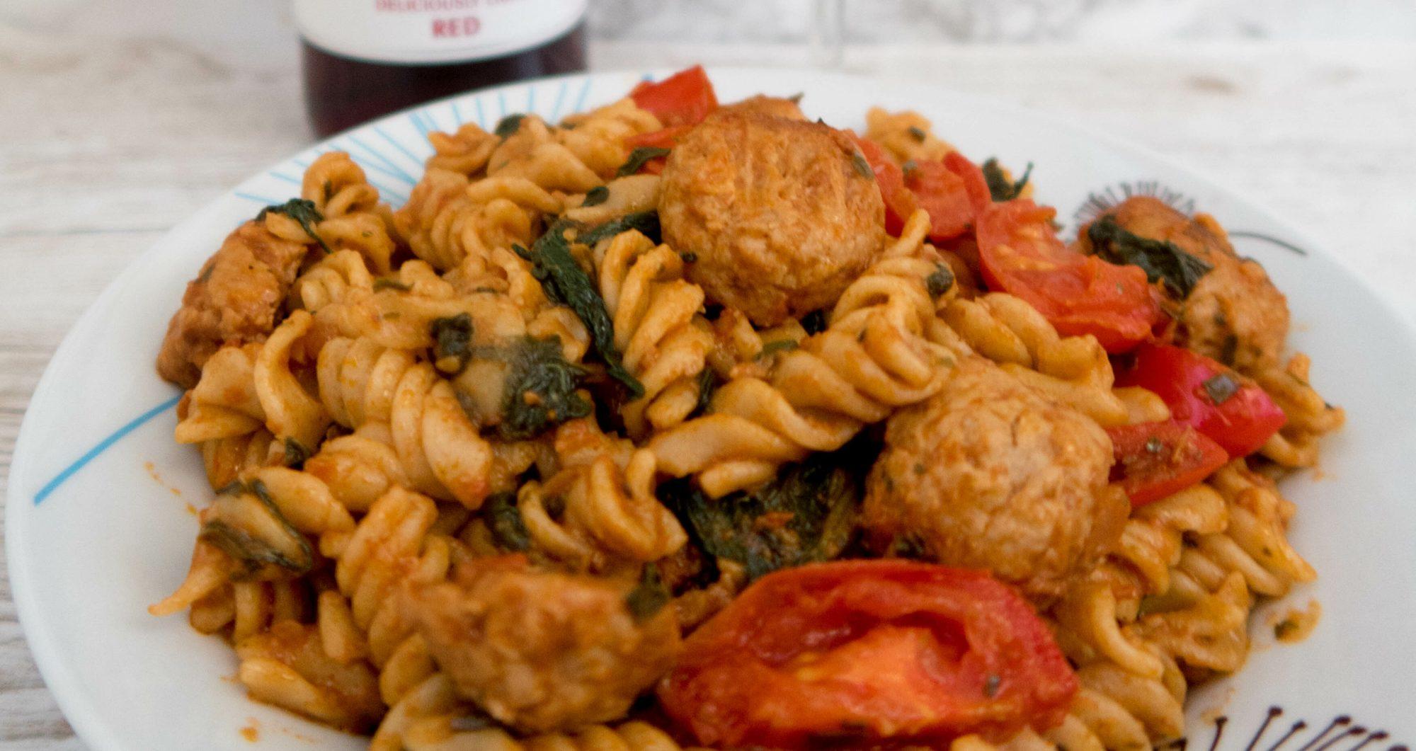 SW recipe: Pasta & Swedish Style Quorn Balls