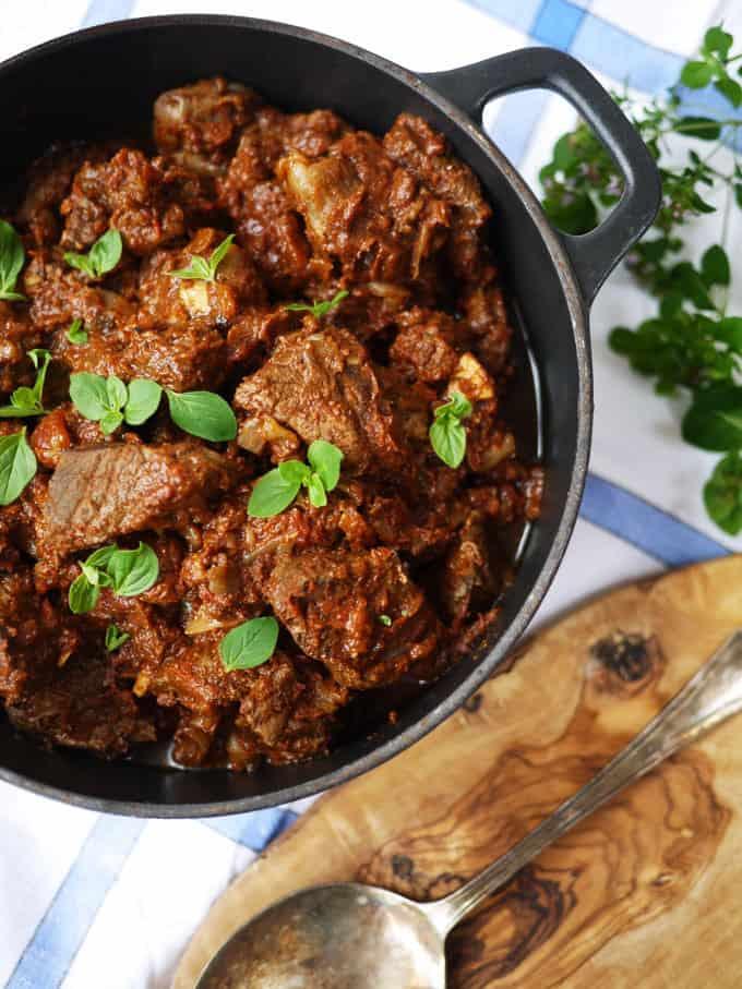 SW recipe: Beef Stifado