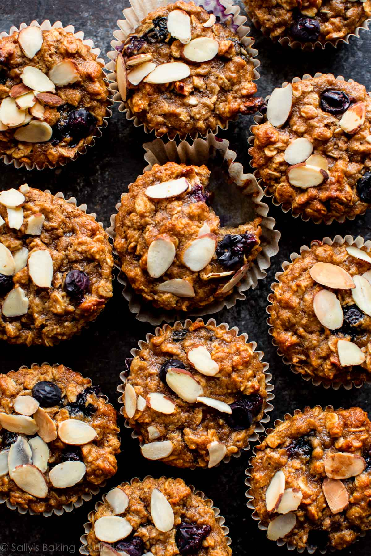 SW recipe: Blueberry, oat, cinnamon and almond muffins