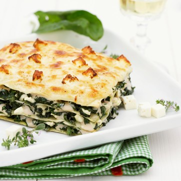 Slimming World recipe:  Spinach and Ricotta Lasagne