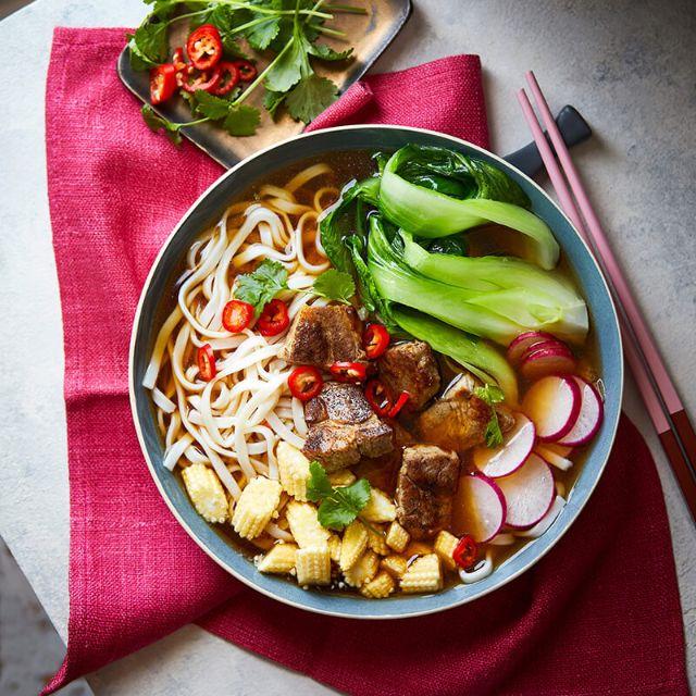 SW recipe: Five-spice pork ramen bowl