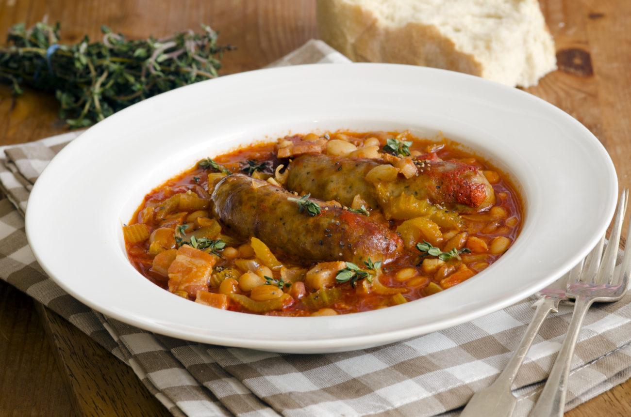 SW recipe: Skinny Bangers & Bean Casserole