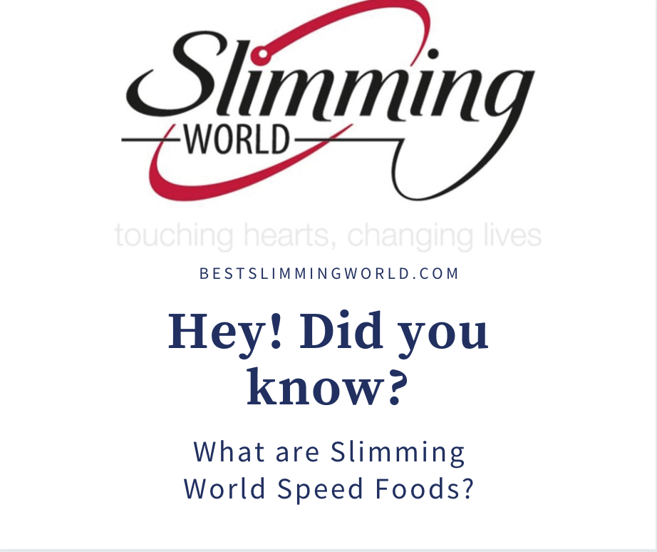 SW Minute info: What are Slimming World Speed Foods?