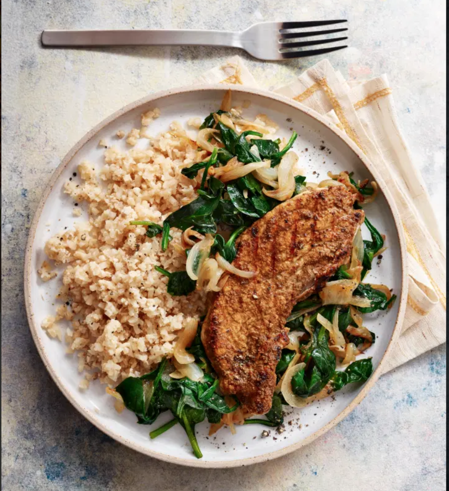 SW recipe: Pork escalopes with cauliflower rice