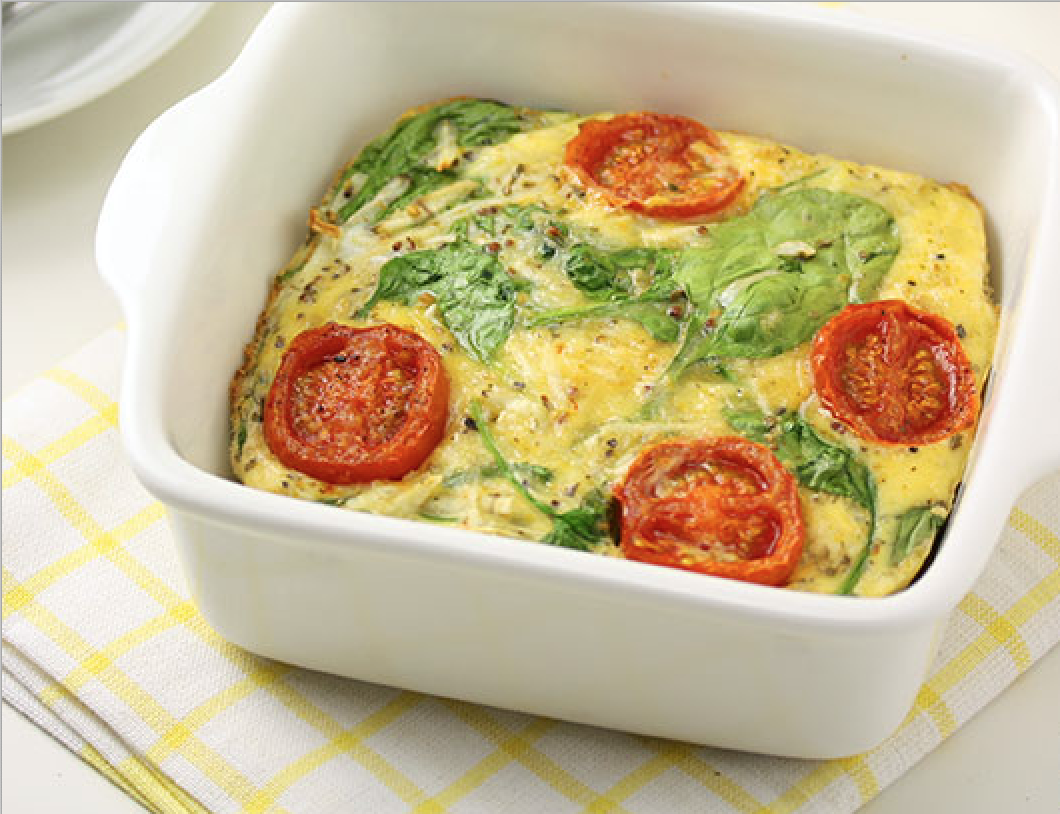 SW recipe: Sweet potato and spinach frittata with roasted tomatoes