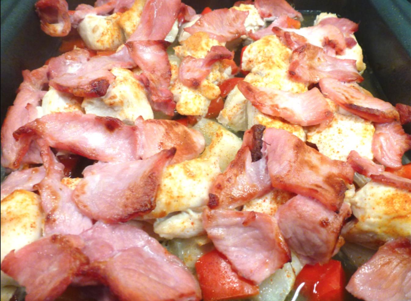 SW recipe: Cajun Chicken and Bacon Traybake
