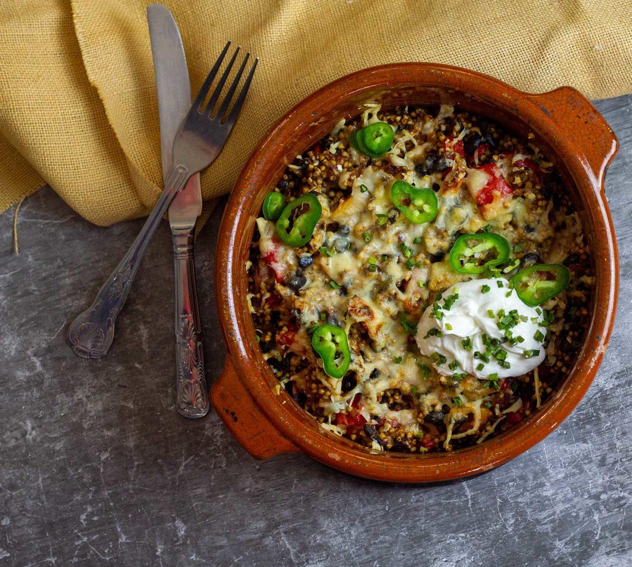 SW recipe: Mexican Buckwheat Bake