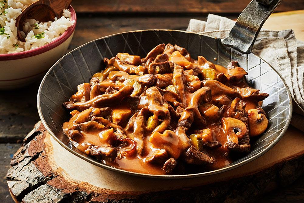 SW recipe: One Pot Beef and Mushroom Stroganoff
