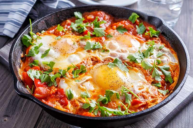 SW recipe: Shakshuka Breakfast Eggs
