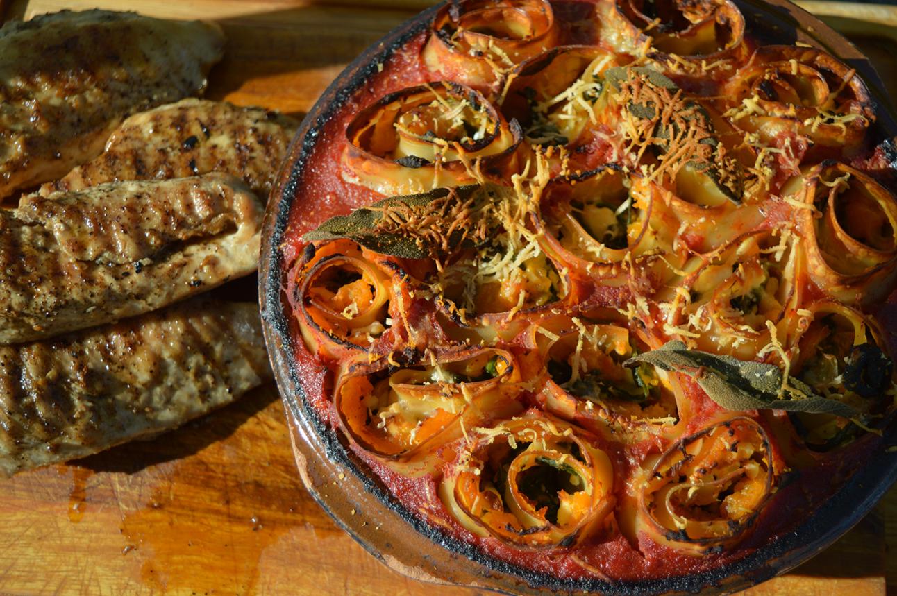 SW recipe: Butternut Squash and Spinach Rotolo