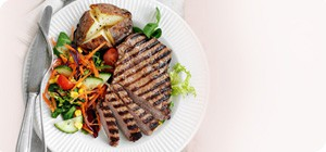 SW recipe: Chargrilled steak with rainbow salad
