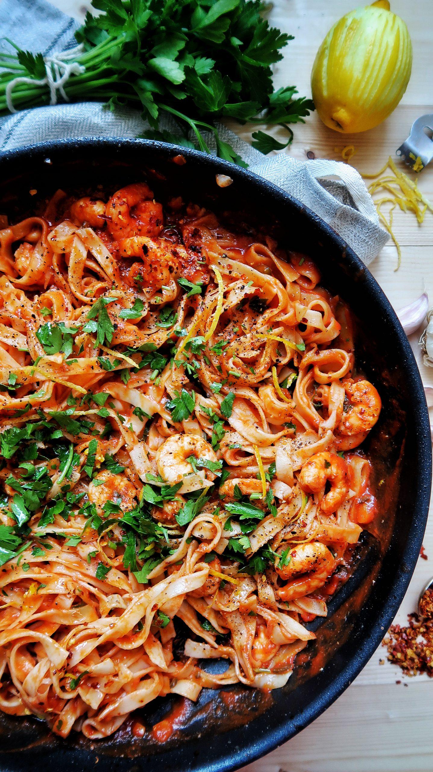 SW recipe: Lemony chilli prawn tagliatelle