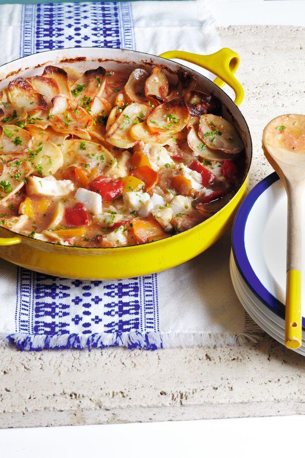 SW recipe: Baked cod stew with crispy potatoes