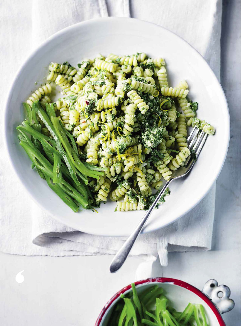 SW recipe: Fusilli bucati with coriander and cashew pesto