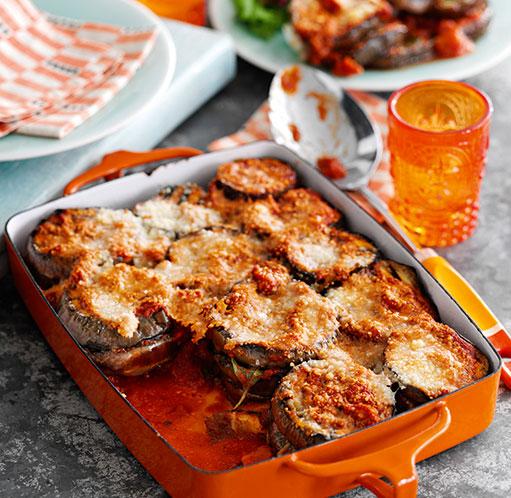 SW recipe: Italian aubergine basil and tomato bake