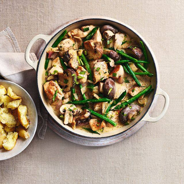 SW recipe: Chicken and mushroom stew with tarragon sauce