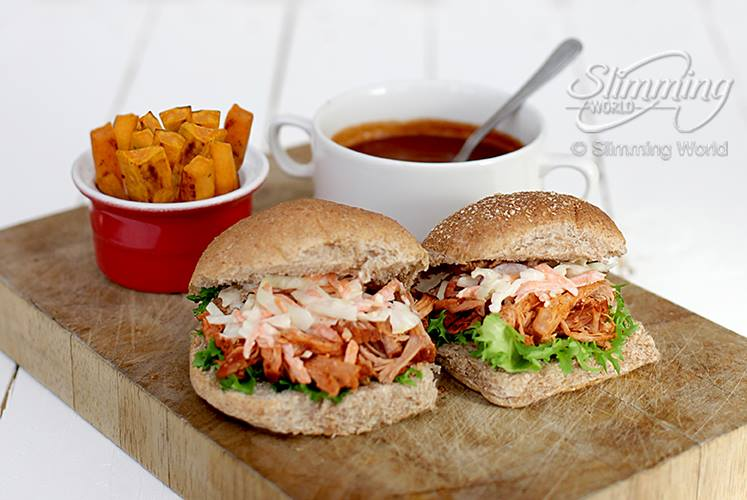 SW recipe: Bbq pulled pork burgers