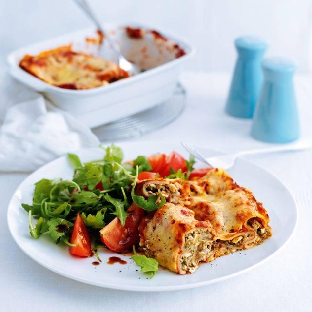 SW recipe: Mushroom and spinach cannelloni