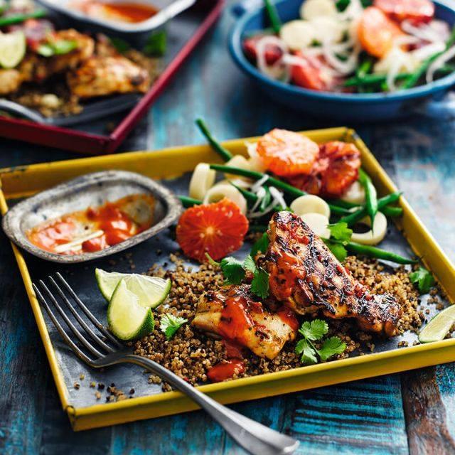 SW recipe: Caipirinha chicken with quinoa and orange salad