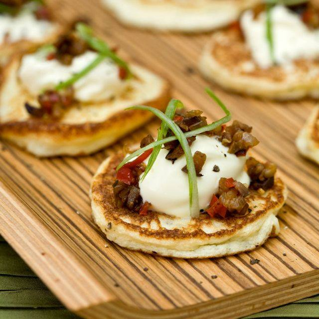 SW recipe: Potato blinis with aubergine caviar