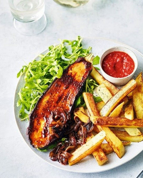 SW recipe: Aubergine steak and chips