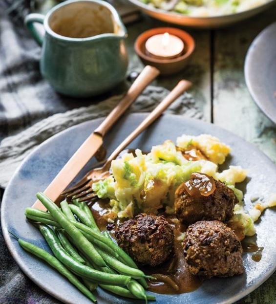 SW recipe: Haggis balls, rumbledethumps mash and gravy