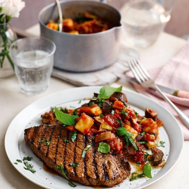 SW recipe: Spiced Steaks with Speedy Ratatouille