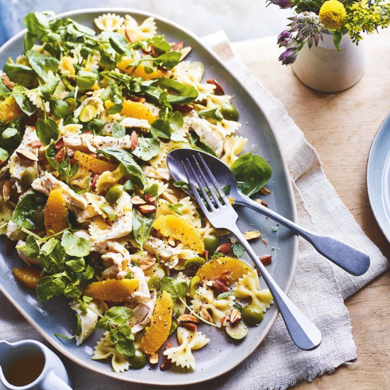 SW recipe: chicken, watercress and orange pasta salad