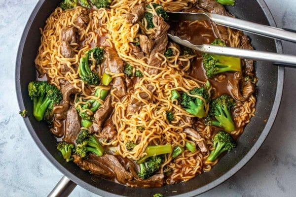 SW recipe: Beef and broccoli ramen
