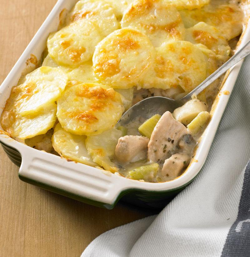 SW recipe: Chicken, leek & mushroom bake