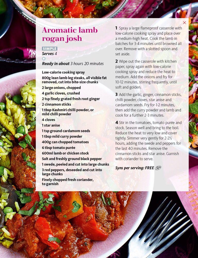 SW recipe: Aromatic lamb rogan josh
