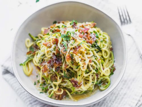 SW recipe: Courgetti and spaghetti carbonara