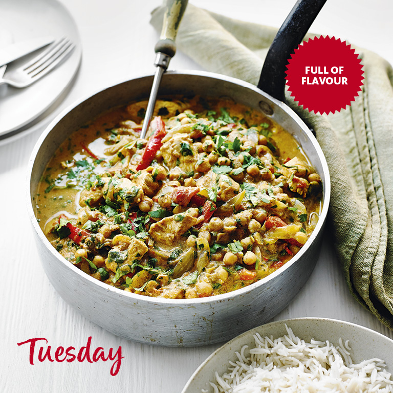 SW recipe: Chicken and Chickpea curry