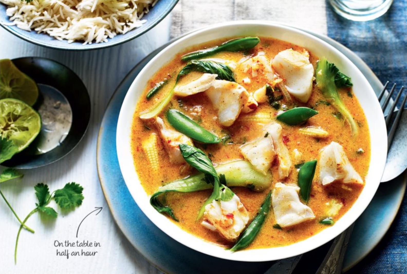 SW recipe: Thai red fish curry