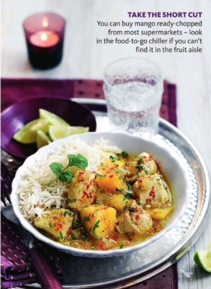 SW recipe: Chicken and mango korma with rice